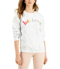 junk food believe cotton tie-dye sweatshirt