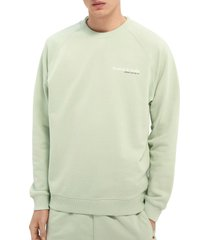 men's scotch & soda men's organic cotton sweatshirt, size small - green
