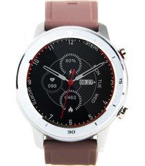smartwatch reloj inteligente rd7 plateado beige lhotse