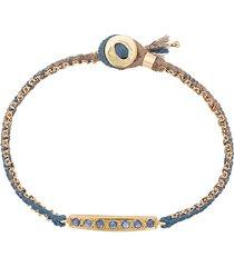 brooke gregson 18kt gold 7 blue sapphire bar bracelet