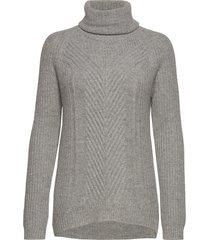 hollie high neck chunky knit turtleneck coltrui grijs andiata