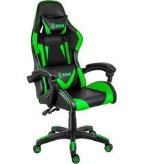 cadeira gamer x-zone premium cgr-01-gr preto e verde