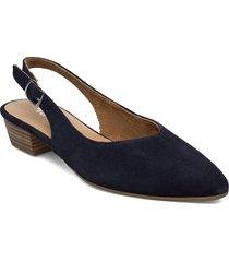 woms sling back shoes heels pumps sling backs blå tamaris