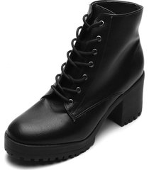 bota coturno zatz salto grosso preta - preto - feminino - dafiti