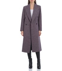 avec les filles double breasted coat, size xx-large in pink/black at nordstrom