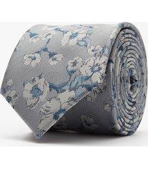 krawat kwiaty grafit 102