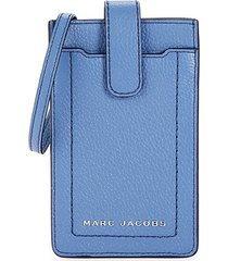 marc jacobs women's the groove leather phone crossbody bag - smoked almond