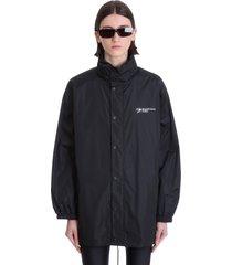 balenciaga casual jacket in black polyamide