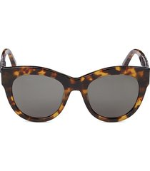 stella mccartney women's 51mm core cat eye sunglasses - havana