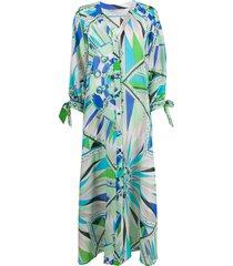 emilio pucci geometric print beach dress - green