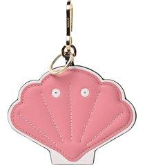 pink shell key charm