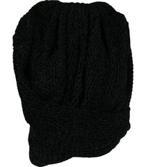 draped top, black