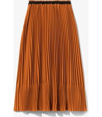 proenza schouler white label crepe pleated skirt walnut/brown 4
