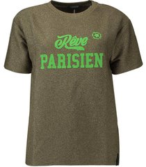 t-shirt lurex army green