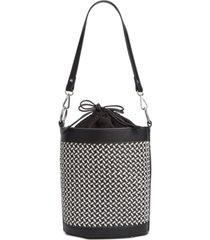 inc ajae woven bucket bag, created for macy's