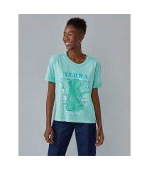 amaro feminino t-shirt elemento terra, verde