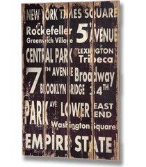 new york - drewniana tablica z napisem