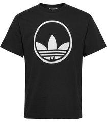 circle trefoil t-shirts short-sleeved svart adidas originals