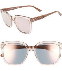 women's juicy couture core 55mm square sunglasses - dark havana