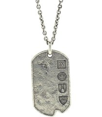 distressed silver dogtag necklace