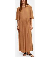 mango women's imitation pearl neck dress