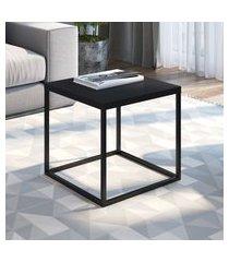 mesa de centro industrial quadrada artesano cube média
