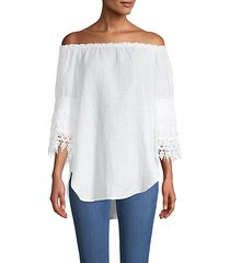 off-the-shoulder linen top