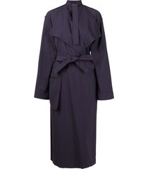 lemaire trench coat-style wrap dress - purple
