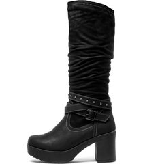 bota nancy black chancleta