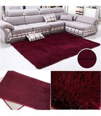 eh alfombra de lana salón dormitorio de vino tinto-vino rojo