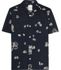 wood wood brandon graphic-print shirt - blue