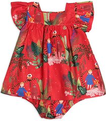 vestido calcinha estampado vermelho precoce vermelho