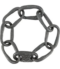 parts of four small link bracelet - grey