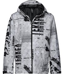 camo rain j outerwear sport jackets grijs adidas performance