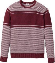 pullover con cotone riciclato regular fit (rosso) - john baner jeanswear