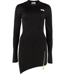 gcds knitted asymmetric dress