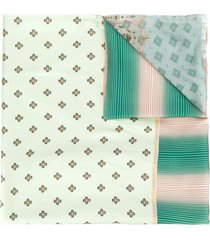 pierre-louis mascia aloesta double-sided scarf - green