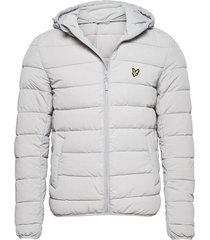 lightweight puffer jacket gevoerd jack grijs lyle & scott