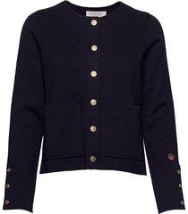 nilla jacket gebreide trui cardigan blauw busnel
