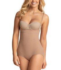 leonisa women's light tummy-control open bust bodysuit 012728m