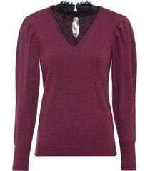 maglione con inserto di pizzo (viola) - bodyflirt