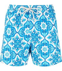 mc2 saint barth micro fantasy swim shorts - blue