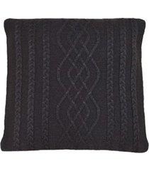 capa almofada tricot 40x40cm c/zãper sofa trico cod 1026 caf㉠- marrom - feminino - dafiti
