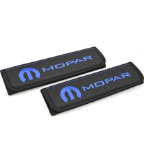 mopar seat belt covers leather shoulder pads interior accessories with emblem