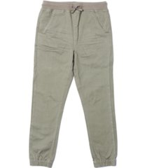 toddler boys tie waist solid twill pant