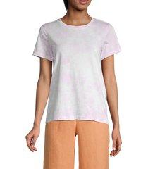 525 america women's tie-dye cotton tee - peach haze - size m
