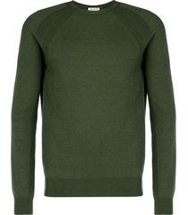 al duca d'aosta 1902 lightweight crew neck sweater - green