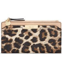 billetera organizer kennedy nine west para mujer leopard animal print