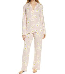 women's nordstrom lingerie moonlight pajamas, size large - pink