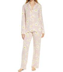 women's nordstrom lingerie moonlight pajamas, size large - pink